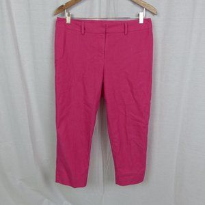 Chico's Pink Flat Front Cropped Pants 1.5 MEDIUM